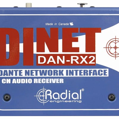 Radial DiNET DAN-RX2 2-channel Dante Network Receiver