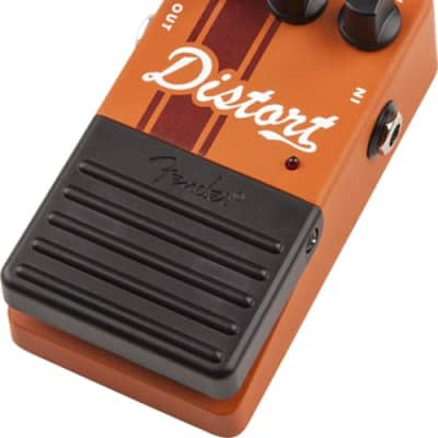 Fender Distortion Competition Stripe Guitar Pedal Effect, Orange for sale