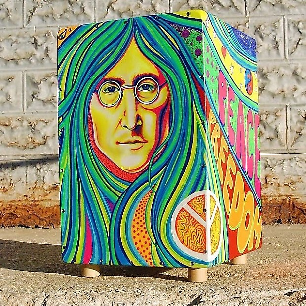 Ozmo Cajon Drum 2018 Custom John Lennon Imagine