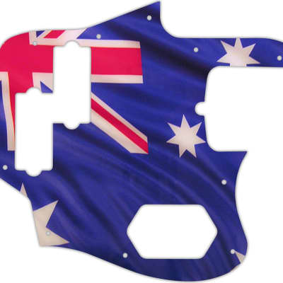 WD Custom Pickguard For Fender American Standard Jaguar Bass #G13 Aussie Flag Graphic