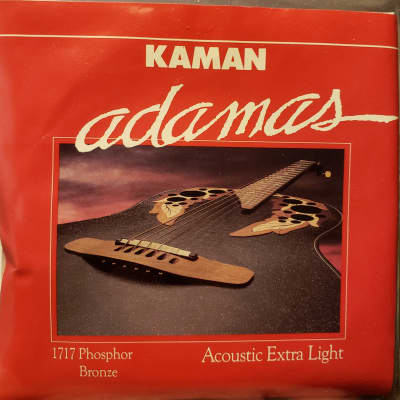 Adamas 1717 Acoustic Extra Light Guitar Strings 1990s Phospher Bronze for sale