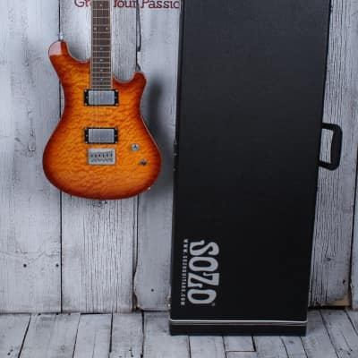 Sozo Z7 Electric Guitar Quilt Maple Top Honeyburst with Hardshell Case Z7HBQV2 for sale