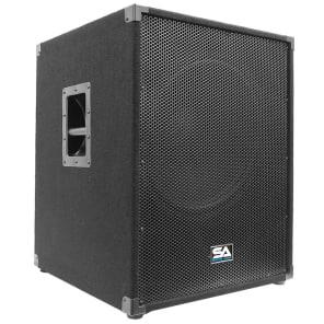 "Seismic Audio Aftershock-18 Active 1x18"" Powered 800w Subwoofer Speaker"