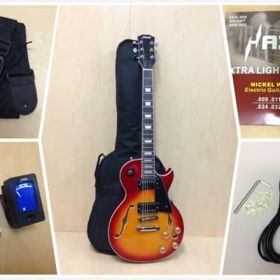 Haze 239 CS Semi-Hollow Body Electric Guitar,Cherry Sunburst+Free Gig Bag,Picks for sale