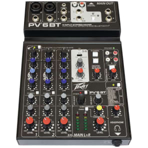 Peavey PV 6 BT 6 Channel Mixer with Bluetooth