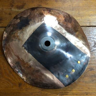 "Cymbalheaven.biz 8.5"" Flat Cap Sizzler FX Cymbal 200g 2021 B8 Textured, Hammered, Patina"