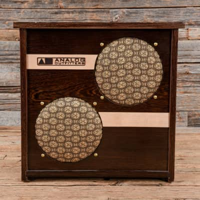 Analog Outfitters 2x10 40W 4/16ohm Speaker Cabinet Wenge Hardwood USED (Serial #48)