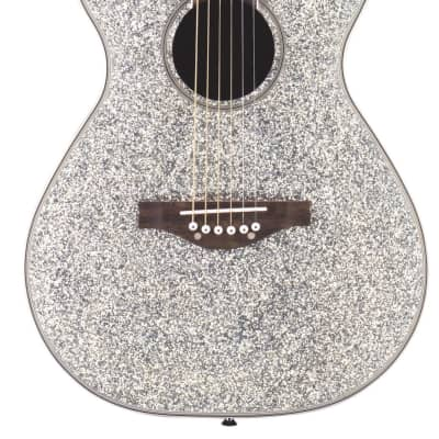 Daisy Rock Guitars Pixie Acoustic Silver Sparkle for sale