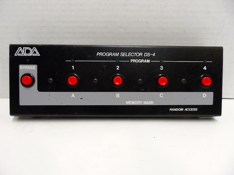 ADA A/DA DS-4 Digitizer 4 Program Selector Foot Switch Footswitch Pedal for  Digital Delay Rackmount