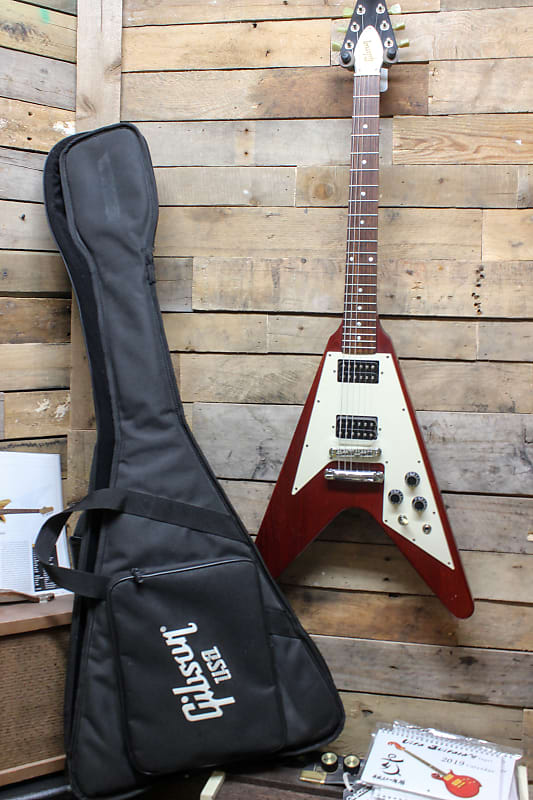 76367e7587 2006 Gibson Flying V Heritage Cherry Red Electric Guitar w/ | Reverb