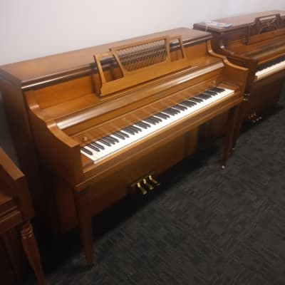 "Kranich & Bach 40"" Light Walnut Spinet Piano"