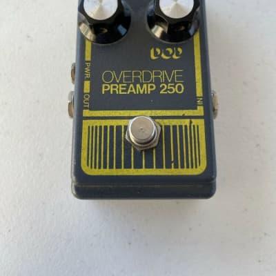 DOD Digitech 250 Overdrive Preamp Original Gray Rare Vintage Guitar Effect Pedal