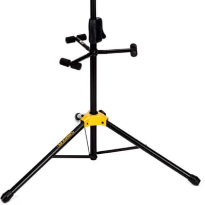 Hercules AUTO GRIP SYSTEM (AGS) TRIPLE GUITAR STAND, FOLDABLE BACKREST