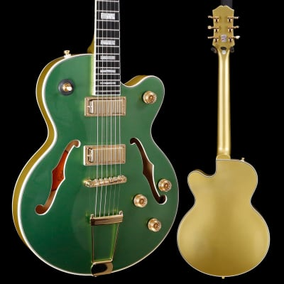 Epiphone ETUEEGMGH1 Uptown Kat ES, Emerald Green Metallic 926 7lbs 6.2oz for sale