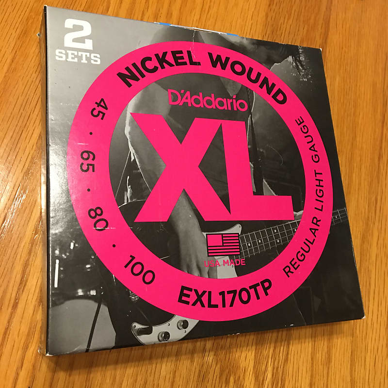 2 Sets Long Scale Light 45-100 D/'Addario Nickel Wound Bass Guitar Strings