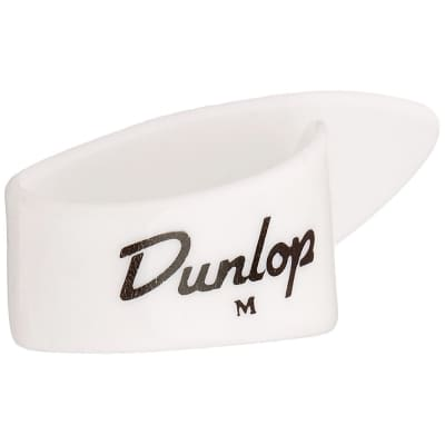 Dunlop 9012R Plastic Medium Left-Handed Banjo Thumbpicks (12-Pack)