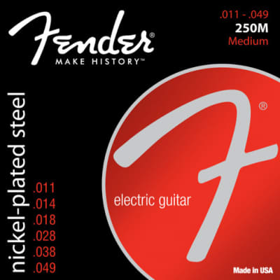 Fender Super 250's Nickel Plated Steel Strings - Medium .011 - .049
