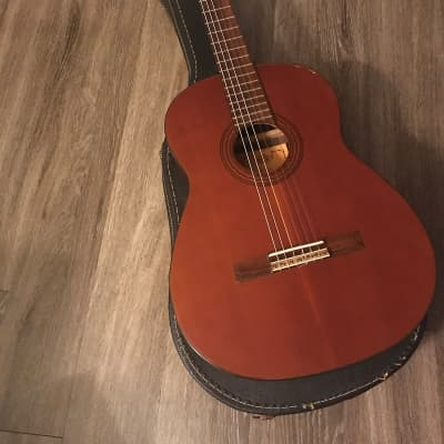 Matao 1 C-2  1970s Mahogany classical guitar made in Japan with chipboard case for sale