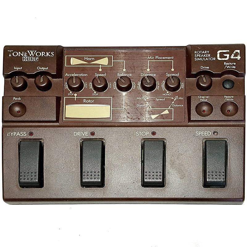 korg toneworks g4 rotary speaker simulator leslie guitar reverb. Black Bedroom Furniture Sets. Home Design Ideas