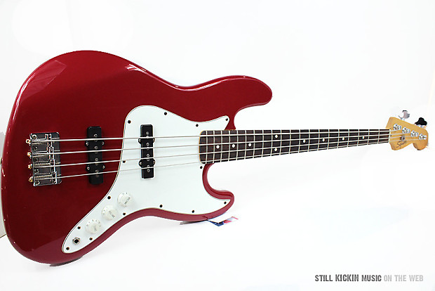 Fender Vintage 1998 MIM Squier Jazz Bass Amazing Mexican Made Mexico J Red White