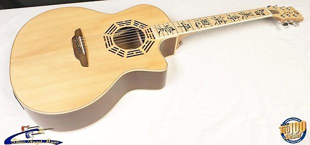 luna oracle zen acoustic electric guitar w gig bag barely reverb. Black Bedroom Furniture Sets. Home Design Ideas