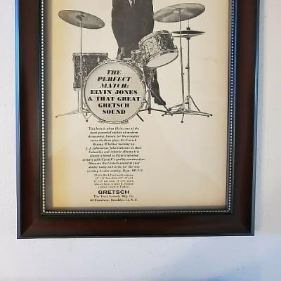 1964 Gretsch Drums Promotional Ad Framed Elvin Jones Original