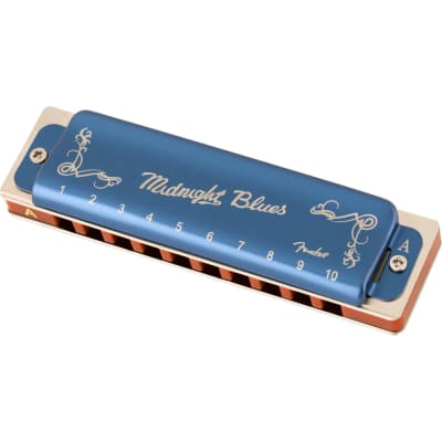 Fender Midnight Blues Diatonic Harmonica - Key of A