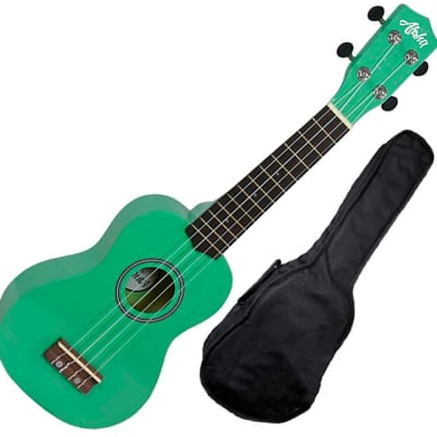 Aloha Uk200f GR ukelele soprano verde con funda for sale