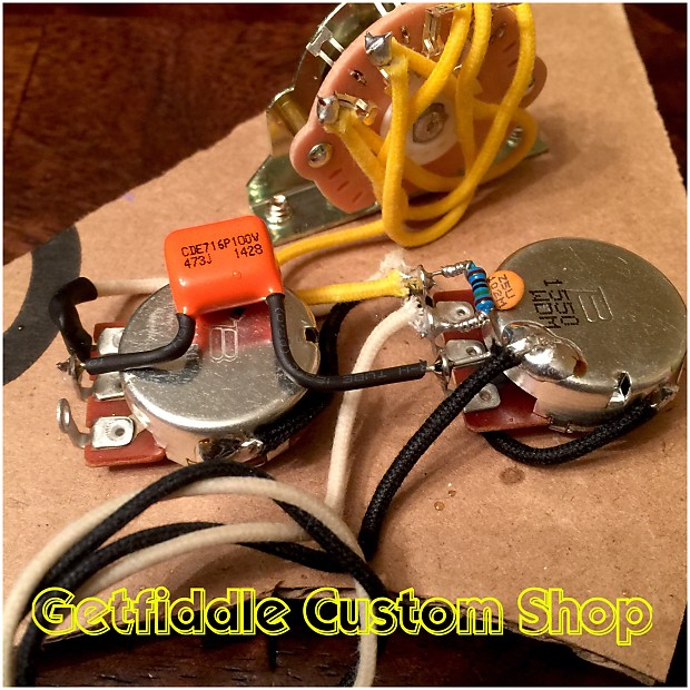stratocaster wiring harness one volume one tone three way reverb. Black Bedroom Furniture Sets. Home Design Ideas