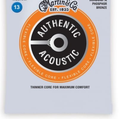 Martin MA550FX Flexible Core Acoustic Strings Medium