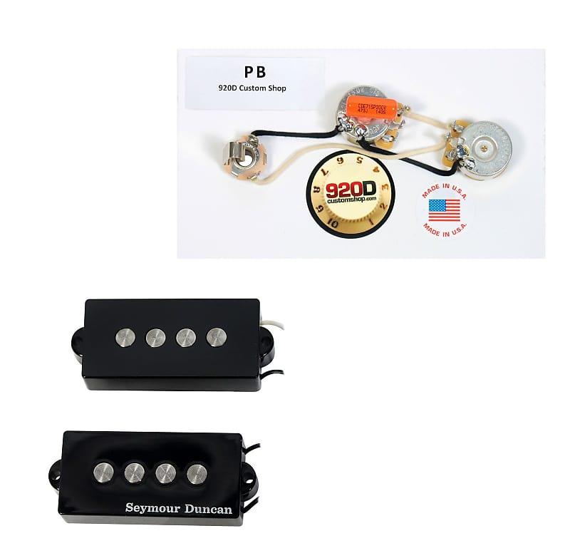 Seymour Duncan SPB-2 Hot for Fender P Bass Guitar Pickup Black