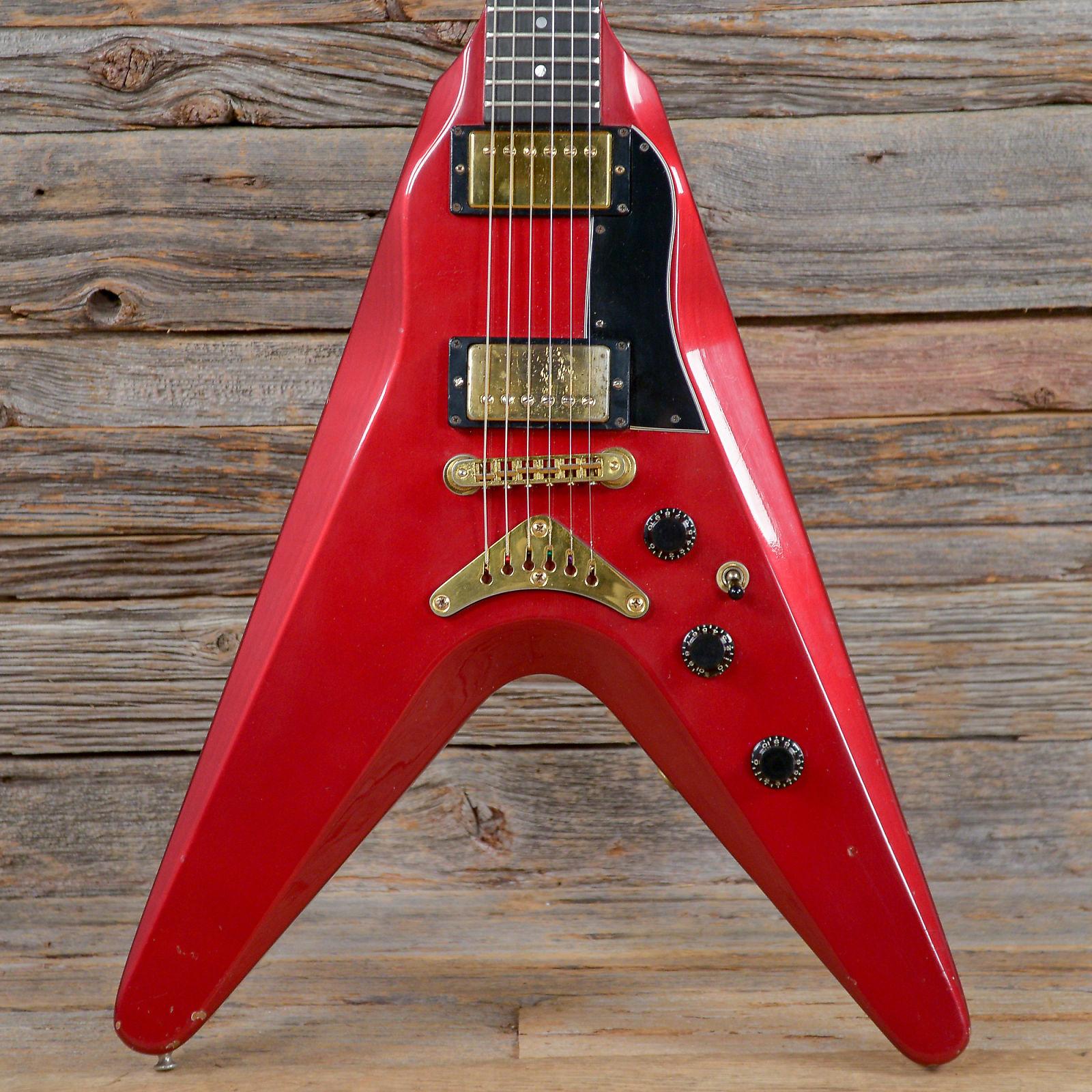 Gibson Flying V II Cherry Sparkle Metallic 1982 S011