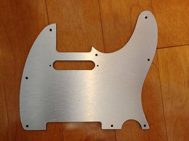 fender telecaster brushed aluminum pickguard metal tele reverb. Black Bedroom Furniture Sets. Home Design Ideas