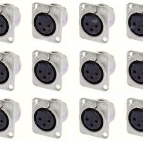8 Pack Neutrik NC3MD-L-1  3 Pin Male XLR Panel Connector Nickel Silver Contact
