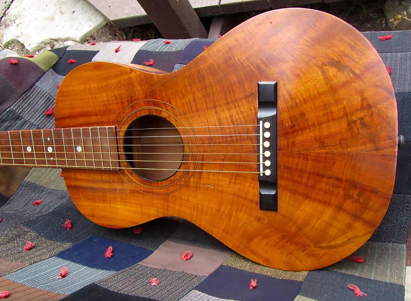 Koa Wood Parlor Guitar Solid Wood Presumed 1920s Vintage
