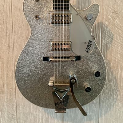 Gretsch 6129T Sparkle Jet 2009 Silver Sparkle Jet with bigsby for sale