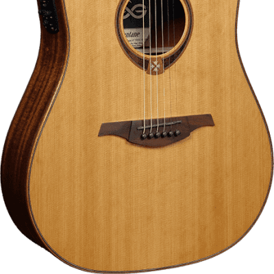 Lag T118DCE Tramontane 118 Dreadnought Cutaway Tropical Khaya Neck 6-String Acoustic-Electric Guitar