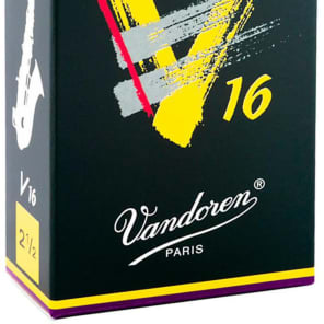 Vandoren SR7025 V16 Alto Saxophone Reeds - Strength 2.5 (Box of 10)