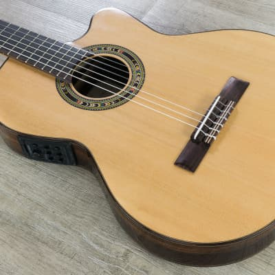 Kremona Guitars Fiesta F65CW TLR Classical Acoustic Electric Guitar Nylon String for sale