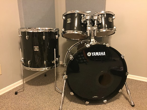 yamaha oak custom 10 12 16 22 musashi black reverb. Black Bedroom Furniture Sets. Home Design Ideas