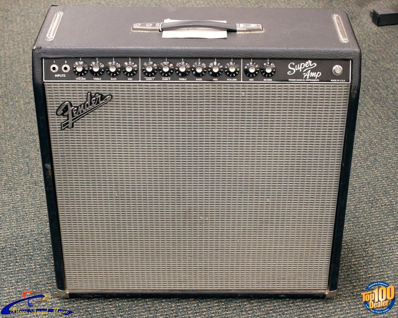 Fender 4x10 Guitar Cabinet 1993 Fender Super Amp 410 Pro Tube Series Guitar Amp Combo Reverb