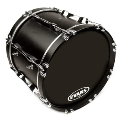 Evans MX1 Black Marching Bass Drum Head 24 Inch