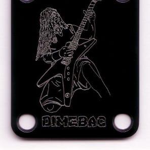 GUITAR NECK PLATE Custom Engraved Etched - DIMEBAG DARRELL - Black