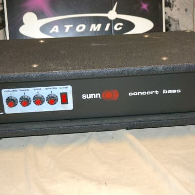 Sunn USA Concert Solid State Bass Amplifier Head Vintage Hartzell for sale