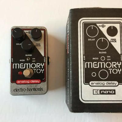 Electro Harmonix Memory Toy Analog Delay Modulation Guitar Effect Pedal + Box