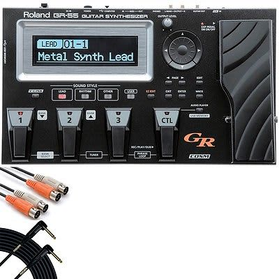 Roland GR-55 Guitar Effects Synthesizer GK-3 Pickup + Mogami Cable + MIDI Cable