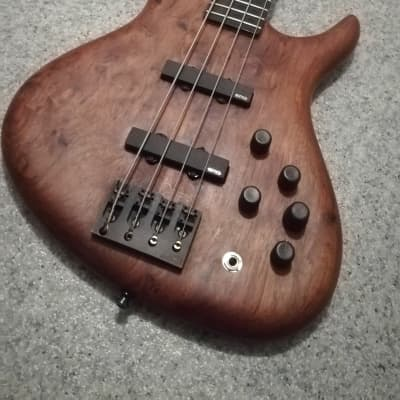 Andy Schack Unique Boutique Bass - made in Germany - ca. 1990 Bubinga // Jazz Bass style // EMG for sale