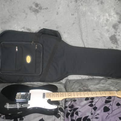 Indiana Telecaster Black Maple Neck Heavily Padded Fender Gigbag Tele Single Single SS 8.8 Pounds for sale
