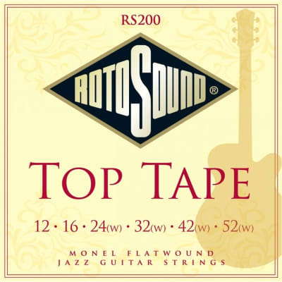 Rotosound RS200 Top Tape Jazz, Monel Flatwound, 12-52 for sale