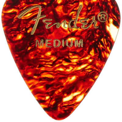 Fender 351 Shape Premium Classic Guitar Picks, MEDIUM, Tortoise Shell (12-Pack) for sale